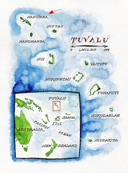 Tuvalu map from Smithsonian Mag